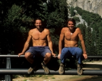 2Fratelli -Alexander and Thomas Huber just down from freeing Zodiac 2003