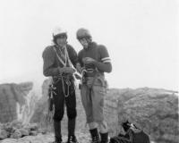 Romano e Mosè in cime al Crozzon di Brenta (foto scattata da Felice Vassena)